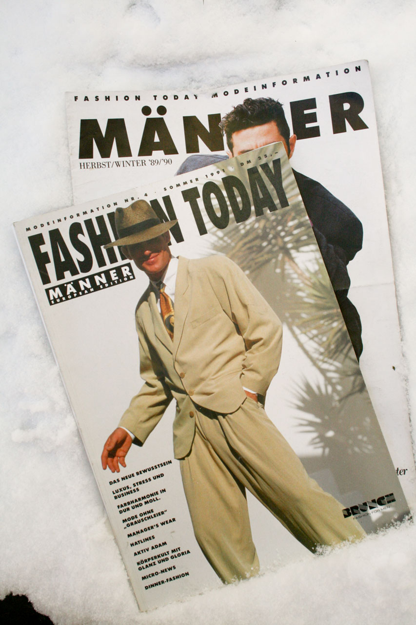 27830f633e6d7e Die ersten beiden Ausgaben Fashion Today 1989 90