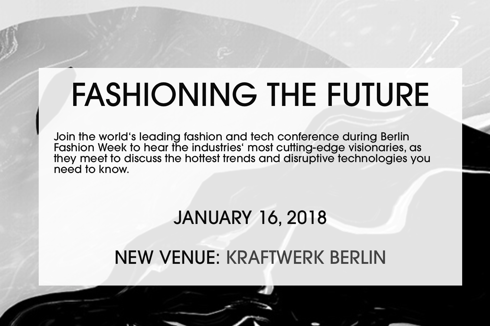 Fashiontech messe frankfurt wird partner fashiontoday for Messe frankfurt januar 2017