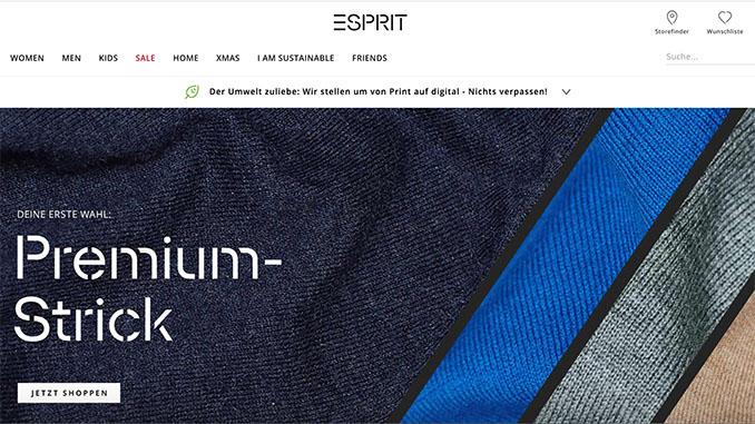 Esprit veröffentlicht Nachhaltigkeitsbericht
