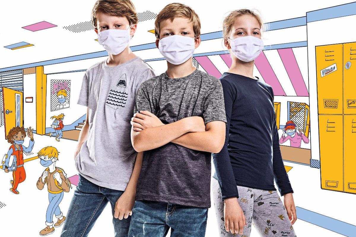 Pionier Workwear lanciert Mund-Nase-Masken für Kinder